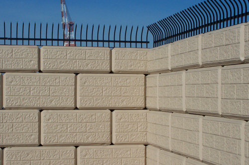 Concrete Security Walls : Large concrete block retaining walls ibrs inc