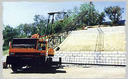 Gravity Retaining wall block installation